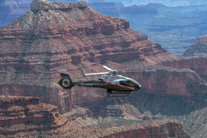 The Grand Canyon is a darned sight quicker to reach by helicopter.