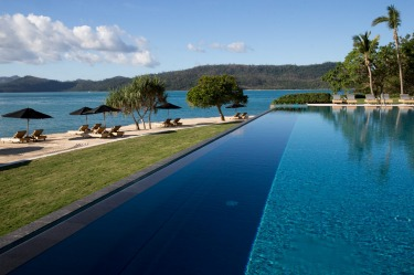 REEF SHOES, BEAN BAGS, AT PEBBLE BEACH, QUALIA. Service at Pebble Beach, Qualia's dreamy waterfront restaurant, infinity ...