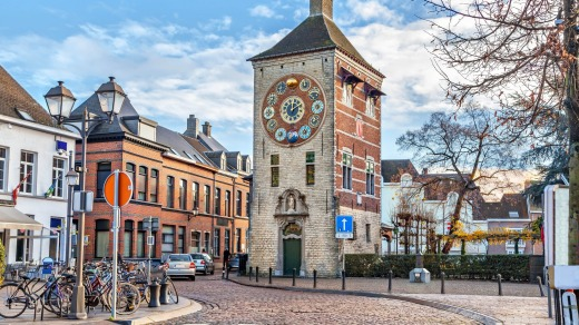 Zimmer tower (Zimmertoren) with astronomical clock in Lier, Flanders.