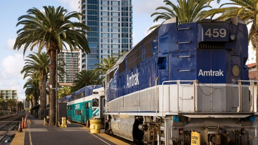 The Pacific Surfliner to San Diego Santa Fe Station.