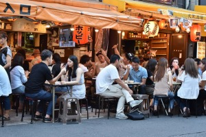 The atmosphere in Tokyo izakayas - small bars dedicated to the consumption of the rice wine sake - is friendly, ...