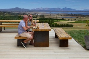 Sample Tasmania's award-winning wines at Devil's Corner Cellar Door.