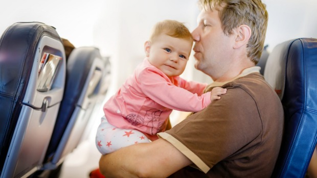Tips for parents flying with babies and young children on a