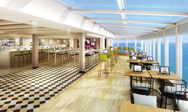 Norwegian Bliss will offer a number of dining and drinking venues, including Food Republic.