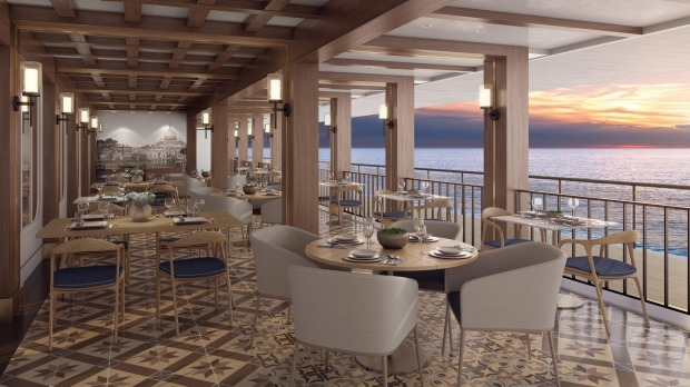 Dine with water views at La Cucina Waterfront.