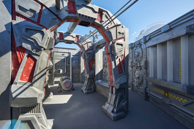 The open-air laser-tag course is themed like an abandoned space station: Norwegian Bliss.