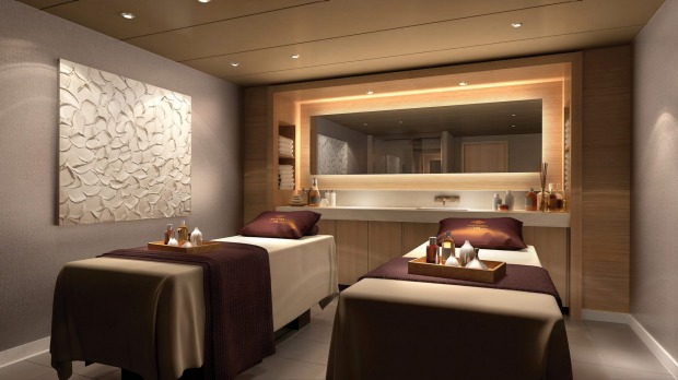 A spa treatment room on Norwegian Bliss.