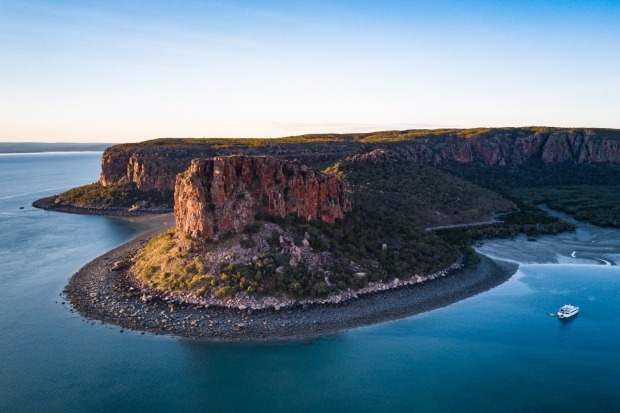 With the sun setting over Raft Point in the heart of the Kimberley region of Western Australia, we had prime position to ...
