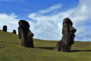 No prize for guessing where this picture was taken. This was my fifth visit to Rapa Nui in 20 years. A lot has changed ...