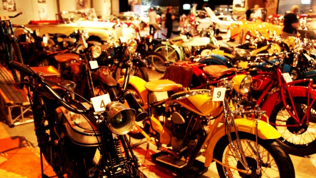 Part of the late king's motorbike collection.