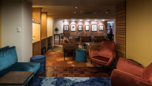 The lobby was revamped earlier this year by New Zealand designer Neil McLachlan.
