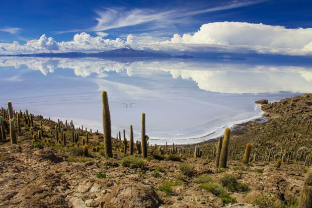 Incahuasi is a hilly and rocky outcrop of land and former island in Bolivia situated in the middle of Salar De Uyuni, ...