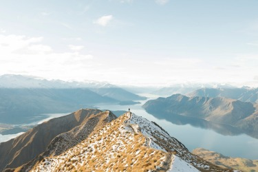 This is a photo of my girlfriend, taken as we returned from hiking Roy's Peak, Lake Wanaka NZ. What made the moment so ...