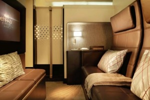 A Residence suite on board an Etihad Airbus A380 superjumbo..