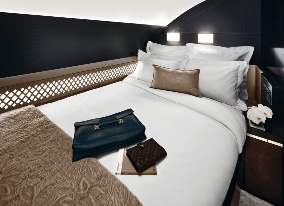 Etihad's The Residence is a three-room suite with a separate bedroom and en suite shower.
