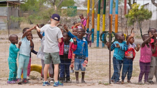 Mabarhule Primary School students during an excursion from Sabi Sabi Bush Lodge.