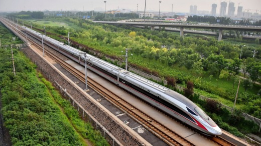 The Fuxing bullet train will have a top speed of 400 km/h.