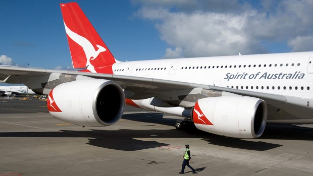 Feels like home: A Qantas A380 super-jumbo.
