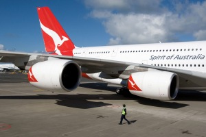 Qantas A380 super-jumbo flies approximately 58,515 miles a week according to data from FlightRadar24.com.