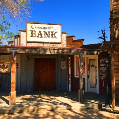 The Pioneertown 'bank'.