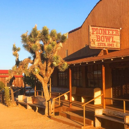 The Pioneertown Bowl (est 1947) - there actually was a bowling alley inside.
