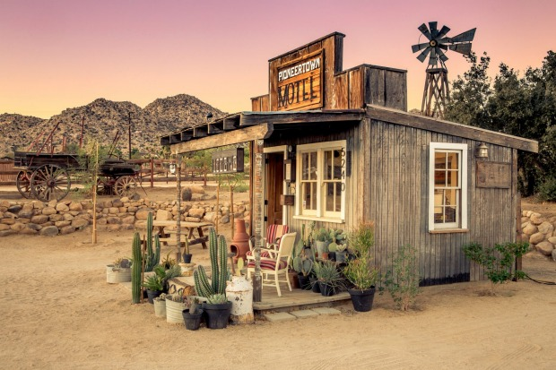 Pioneertown at sunset.