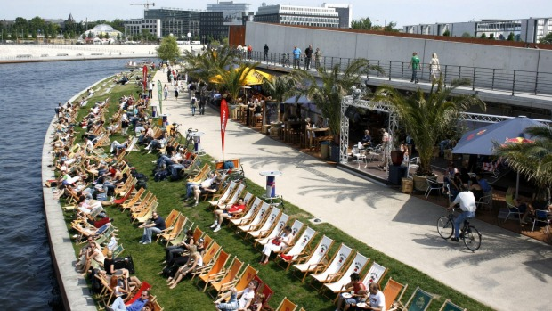 Who doesn't want to hang out at Berlin's famous Beach Bar?