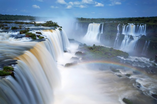 IGUAZU FALLS (ARGENTINA/BRAZIL) Iguazu Falls might be a fraction of the height of Venezuela's world-topping Angel Falls ...