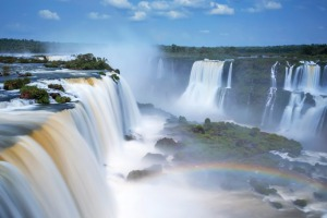 The mighty Iguazu Falls are spectacular from any angle.