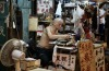 A scene at the Jade market in Hong Kong, still using a typewriter for business.