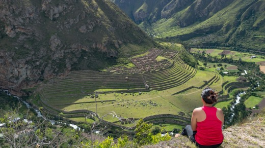The Inca ruins of Pattallacta, Peru.