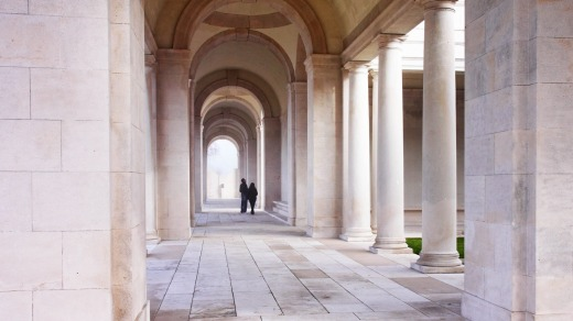 Inside the Arras World War One War Memorial in Northern France.