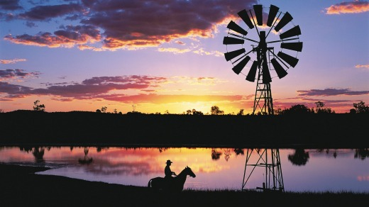 Longreach sunsets are a sight to behold.