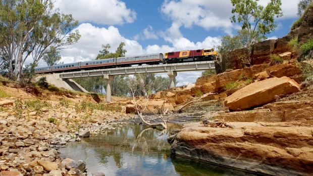 The Spirit of the Outback departs Brisbane for Longreach twice weekly.