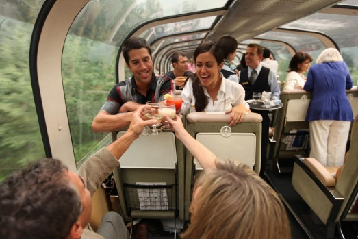 Goldleaf service on the Rocky Mountaineer.