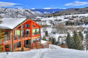 Snow city: Aspen, Colorado.