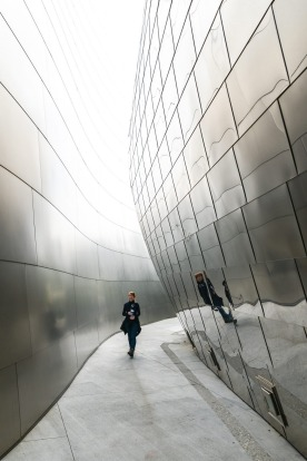 The external spaces of the Walt Disney Concert hall in LA, by Frank Gehry, is accessible to the public and this has ...