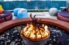 The fire pit by the pool.