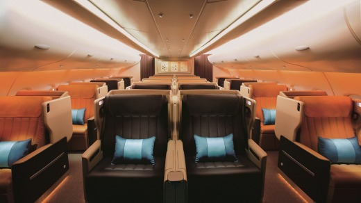 Attentive service: Singapore Airlines' business class.