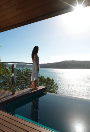 A windward pavilion at Qualia.