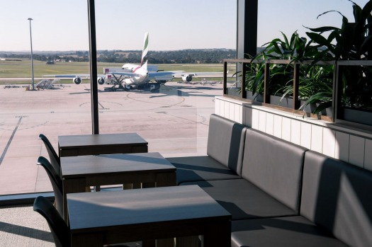 Inside marhaba's new lounge at Melbourne Airport.