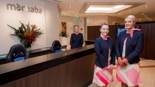 Marhaba Lounge at Melbourne Airport.