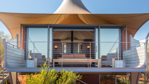 Dune House: Not too bad for a tent.