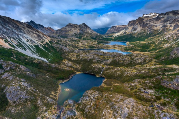 Ushuaia's Martial Mountains, Cape Horn, South America, one of nature's beautiful masterpieces. Taken on holiday  in ...
