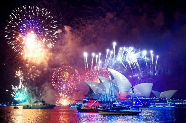 New Year's celebration 2016 in Sydney Australia.