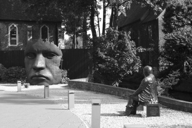 Face-off. A quiet park in Canterbury, England. September 2017. Leica Monochrom 246 + Summicron 75/f2