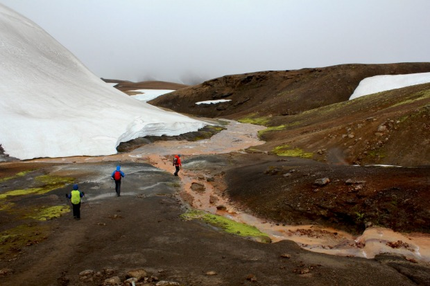 This photo was taken in Iceland, the 'land of fire and ice' on the Laugavegur trail amongst the glaciers, volcanic rock ...
