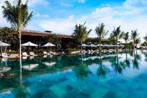 The swimming pool at Amiana on the Bay, Nha Trang, Vietnam