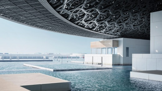The Louvre Abu Dhabi was designed by French architect Jean Nouvel.