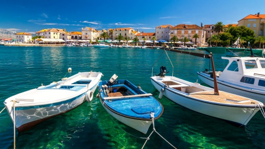 Alluring: The harbour of Supetar, Brac.